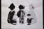 día 03- 2010 - acrílico sobre papel - 30 x 42 cm.
