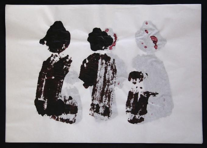 día 03 - 2010 - acrílico sobre papel - 30 x 42 cm.