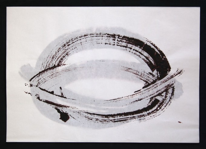 día 10 - 2010 - acrílico sobre papel - 30 x 42 cm.