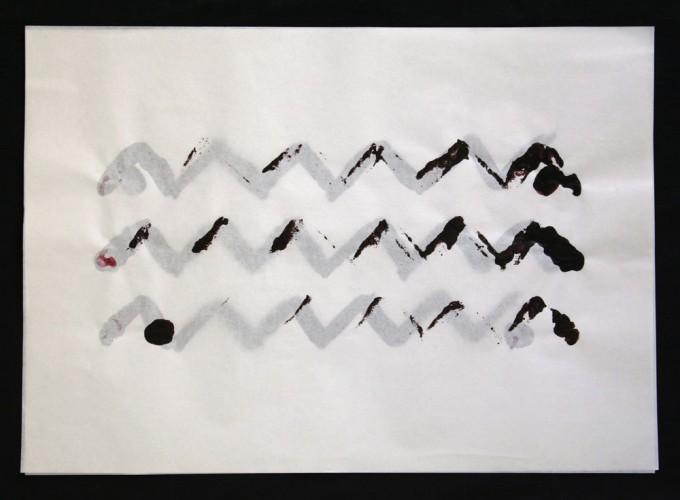 día 12 - 2010 - acrílico sobre papel - 30 x 42 cm.