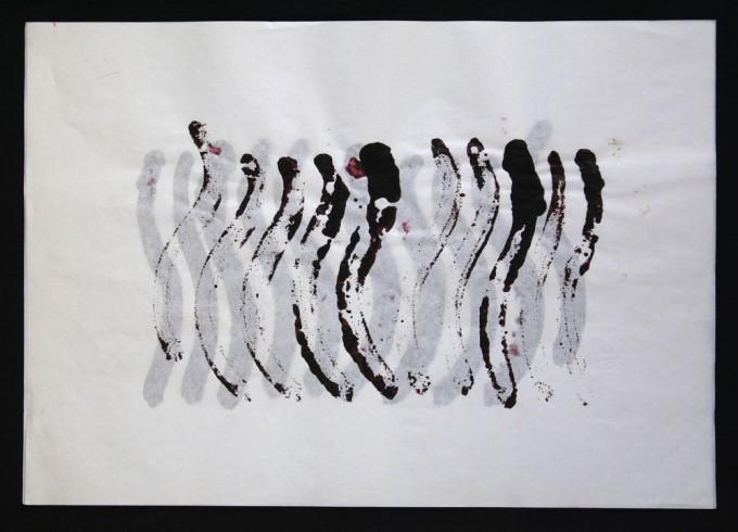 día 16 - 2010 - acrílico sobre papel - 30 x 42 cm.