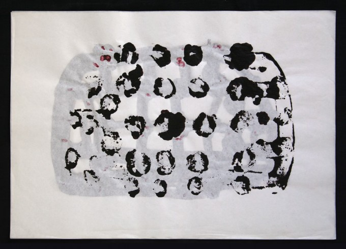 día 19 - 2010 - acrílico sobre papel - 30 x 42 cm.
