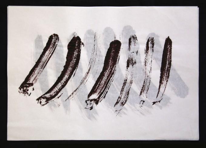 día 20 - 2010 - acrílico sobre papel - 30 x 42 cm.