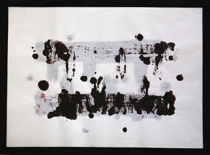 día 27 - 2010 - acrílico sobre papel - 30 x 42 cm.