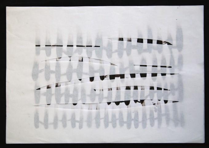 día 29 - 2010 - acrílico sobre papel - 30 x 42 cm.