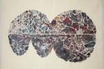 Gota 30 - 2016 - Collage acrílico sobre tela - 50 x 70 cm