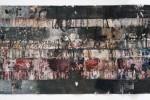 Pintura Traviesa - 2009 - acrílico s/nylon s/papel - 42,5 x 220 cm.