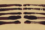 Espejo 2 - 2011 - acrílico sobre papel - 25 x 65 cm.