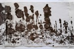 poema 9 - 2010 - acrílico sobre papel - tres piezas 45 x 195 cm