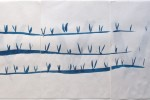 7 veces Chicha - estudio 00 - 2012 - ecoline sobre papel - 30 x 63 cm