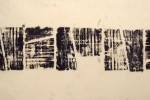 Mapa 3 - 2013 - impresión de caucho sobre tela - 50 x 22 cm