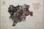 Cartografía Albacete - 2015 - collage acrílico sobre papel - 33 x 46,5 cm.