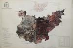 Cartografía Badajoz - 2015 - collage acrílico sobre papel - 33 x 46,5 cm.