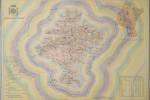 Cartografía Navarra - 2016 - lápiz color sobre papel - 33 x 46,5 cm.