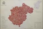 Cartografía Teruel - 2015 - témpera sobre papel - 33 x 46,5 cm.